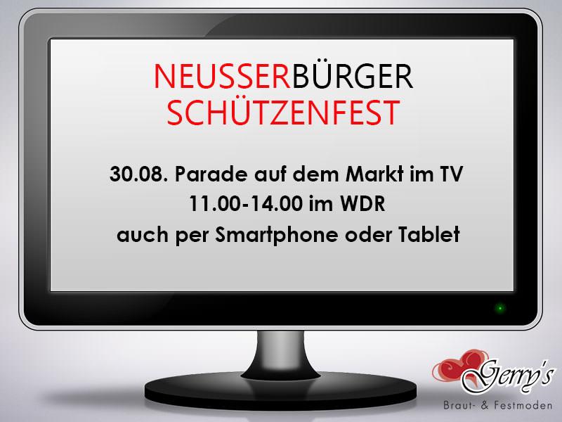 Neusser Bürger Schützenfest – Sonntag, 30.08. ab 11 Uhr live im WDR