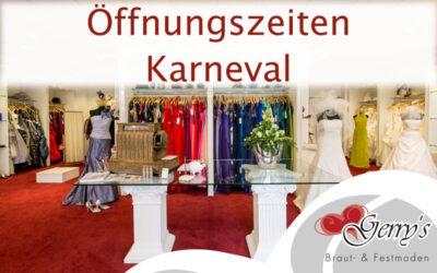 Karneval 2017 – Geänderte Öffnungszeiten