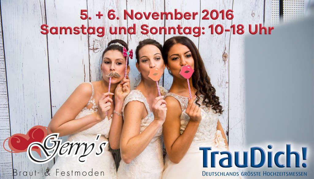 Trau Dich! 2016 – Die Hochzeitsmesse – 05. / 06. November in Köln – Besuchen Sie uns!