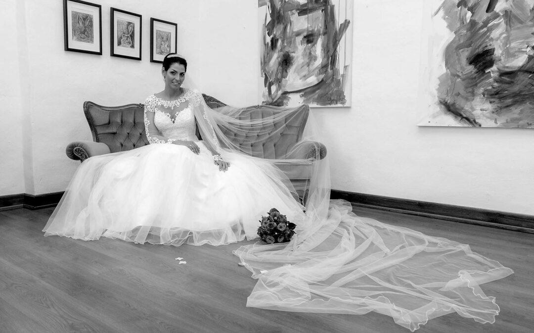 Ein Traumkleid von Gerrys Brautmoden auf Burg Konradsheim