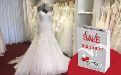 SAMPLE SALE: Bis zu 50% Rabatt auf Brautkleider – Wir machen Platz für die neue Kollektion