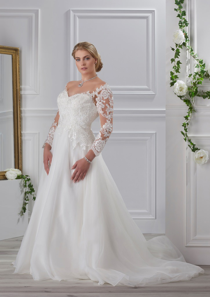 Miss Emily Kollektion 2018 Tres Chic Plus Size Brautmode Brautkleid