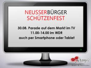 Neusser Bürger Schützenfest 2015 im Fernsehen