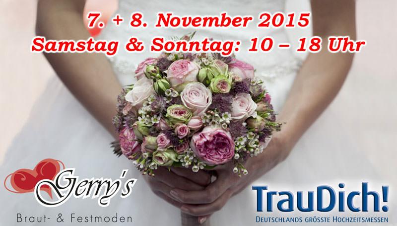 Trau Dich! 2015 – Die Hochzeitsmesse – 07. / 08. November in Köln – Besuchen Sie uns!