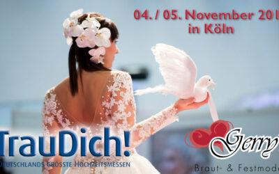 Trau Dich! 2017 – Die Hochzeitsmesse – 04. / 05. November in Köln – Besuchen Sie uns!