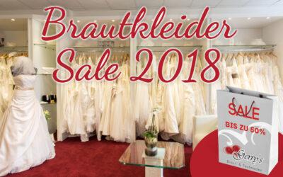 Brautkleider-Sale – Ausverkauf der Kollektionen Frühjahr/Sommer 2018