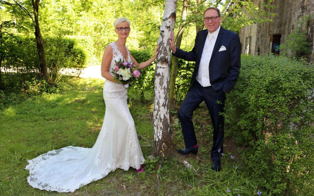 Traumhaftes Brautkleid mit Eyecatcher