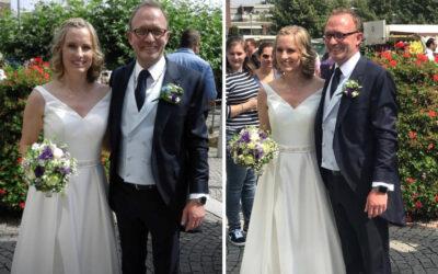 Standesamtliche Trauung im eleganten Brautkleid von Gerrys Brautmoden
