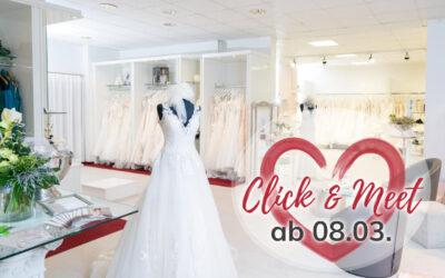Es geht weiter – Click & Meet – Wir haben für vorab vereinbarte Termine ab dem 08.03.2021 wieder geöffnet